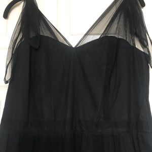 Long Black elegant anthropology dress